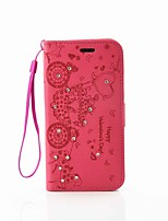 Для Samsung Galaxy S7 Edge Кошелек / Бумажник для карт / Стразы / со стендом Кейс для Чехол Кейс для С сердцем Твердый Искусственная кожа