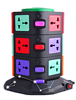 Intelligent Vertical Socket With 2USB Three-Tier European Standard Creative Multi-Function Power Terminal Block Socket