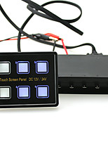 Touch-Sensitive Screen LED Switch Panel w/ Circuit Control Box 15-Pin VGA Cable for Car Truck Caravan Boat Yacht Marine