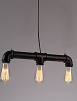 3 Lights Retro Industrial Simple Loft Iron pipe Pendant Lights Living Room Dining Room Kitchen Cafe Light Fixture
