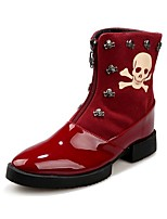 Men's Boots / Fashion Boots / Combat Boots / Christian Loubouti / Suede Outdoor / Casual  Rivet / Split Joint / Zipper
