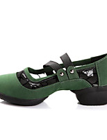 Non Customizable Women's Dance Shoes Suede Suede Modern / Dance Boots Sneakers Low Heel Practice