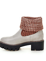 Women's Fall / Winter Combat Boots PU Outdoor / Dress / Casual Low Heel Others Black / Gray / Almond Others