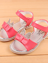 Girl's Sandals Summer Synthetic Casual Flat Heel Bowknot Pink White Coral Others