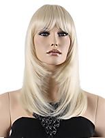 высший сорт низкая цена блондинка средних длинные прямые с полным взрыва синтетический парик горячей продажи.