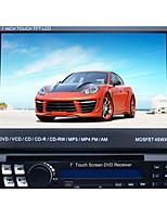 7 tommer 1DIN lcd touch screen digital panel bil dvd-afspiller support gps.ipod.bluetooth.stereo radio.rds.touch skærm