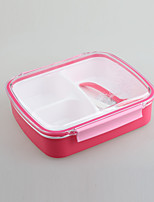 Vacuum Sealed Clear Lunchbox with 3 Compartment