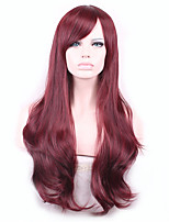 Europe And The United States Long Fashion Lady Cos High-Temperature Wire Inclined Bang Wig