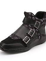 Men's Sneakers Spring / Fall Comfort PU Casual Flat Heel LBlack / Red Sneaker