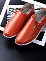 Men's Loafers & Slip-Ons Spring / Summer Comfort Microfibre Casual Flat Heel Split Joint / Lace-up