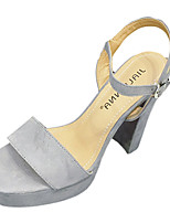 Women's Sandals Summer Sandals Fleece Casual Chunky Heel Others Black / Pink / Gray / Almond Others