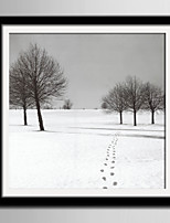 E-HOME® Framed Canvas Art, Snow Scene Framed Canvas Print One Pcs