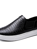 Men's Loafers & Slip-Ons Spring/Summer/Fall/Big Size Nappa Leather Athletic Office & Career Casual Black/White Sneaker