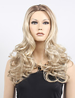 Middle Part Long Boby Wave Synthetic Wig Women Hair/Wig Cosplay Midsplit Wigs Blonde 613# Wig