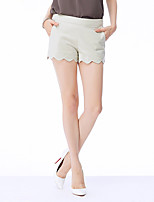 NAKED ZEBRA Women's Mid Rise Shorts Black / Khaki / Dark Blue Casual Pants-QP7318