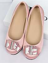 Girl's Flats Spring / Fall Flats Silk Casual Flat Heel Bowknot Blue / Pink / Red Others