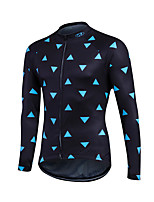 Sports Cycling Jersey Men's Long Sleeve Bike Breathable / Lightweight Materials / Back Pocket / Sweat-wicking / Comfortable JerseyLYCRA®