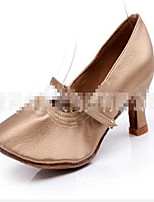 Women's Heels Spring / Fall Closed Toe Leather Outdoor / Casual Stiletto Heel Lace-up Silver / Gold Others