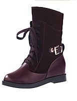 Women's Boots Fall / Winter Snow Boots PU Outdoor / Dress / Casual Flat Heel Others Black / Brown Snow Boots