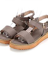 Women's Sandals Summer Sandals Leatherette Outdoor Flat Heel Others Black / Brown / Gray Others