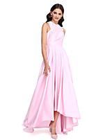 2017 lanting bride® asymétrique en taffetas élégante robe de demoiselle d'honneur - une ligne bijou avec drapage