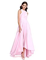 Lanting Bride®Asymmetrical Taffeta Bridesmaid Dress - Elegant A-line Jewel with Draping