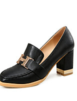 Women's the four seasons Heels / Basic Pump / Square Toe Leatherette Office & Career / Dress / Casual Chunky Heel