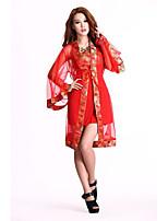 Costumes de Cosplay / Costume de Soirée Cosplay Fête / Célébration Déguisement Halloween Rouge Mosaïque Corset / Plus d'accessoires