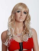 blonde Farbe langen lockigen Perücken Capless synthetische Perücken für Afrofrauen