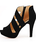Women's Sandals Summer Sandals PU Casual Stiletto Heel Others Black Others