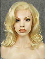 IMSTYLE 16Beautiful Medium Wave 613Blonde Synthetic Lace Front Wig Natural Looking