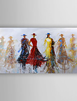 Oil Painting Decoration Poeple  Hand Painted Canvas Painting with Stretched Framed Ready to Hang