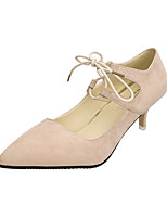 Women's Heels Spring / Summer / Fall Heels Suede Dress / Casual Low Heel Others Black / Almond Others