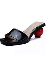 Women's Sandals Summer Comfort Cowhide Casual Low Heel Others Black / White Others