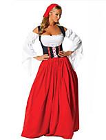 Costumes Sorcier / Fête d'Octobre Halloween / Noël / Carnaval / Nouvel an / Fête d'Octobre Rouge Couleur Pleine Térylène Robe / Casque
