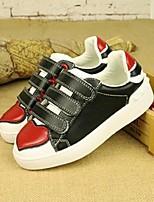 Unisex-Sneakers-Casual-Ballerine-Piatto-Di pelle-Nero / Bianco