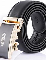 Katusi 6 New Mens Ratchet Belt Fashion Business Casual Style Genuine Leather 3.5cm Width kts6-3