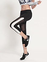 Running Bottoms / Crop Women's Breathable / Quick Dry / Sweat-wicking / Compression / Lightweight PolyesterYoga