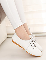 Women's Flats Spring / Summer / Fall Ballerina PU Casual Flat Heel Others Black / White Others