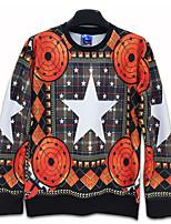 Men's Print Casual / Work / Formal / Sport Hoodie & Sweatshirt