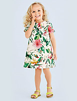 Girl's Casual/Daily Floral DressCotton Summer White