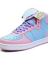 Women's Sneakers Spring / Fall Comfort PU Casual Flat Heel  Blue / Green / Pink / Purple Sneaker