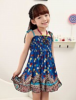 Girl's Casual/Daily Floral DressAcrylic All Seasons Blue