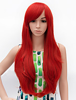 Fashion Long Curly Wig Red Color Synthetic African American Women Wigs