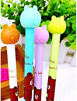 12 PCS Bear Black Ink Gel Pen