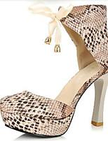 Non Customizable Women's Dance Shoes Satin Satin Jazz Heels Stiletto Heel Professional Black / Yellow / Gray