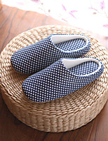 Unisex Slippers & Flip-Flops Spring Fall Winter Comfort Cotton Casual Flat Heel Others Blue Red Others