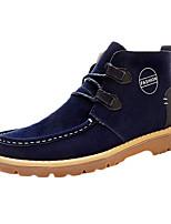 Синий / Коричневый / Зеленый-Мужской-На каждый день-Полиуретан-На плоской подошве-С круглым носком / Удобная обувь / Военные ботинки-