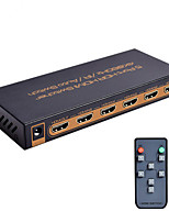 HDMI Switch 5x1 4K@60Hz UHD 5 HDMI Input 1 HDMI Output Metal House Support HDCP2.2 HDMI2.0 With Remote & Power Adapter