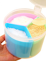 Three Compartments Condiment Pot Condiment Dispenser Colorful Plastic Salt Sugar Aginomoto